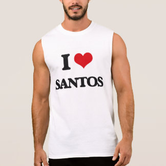 I Love Santos Sleeveless Shirts