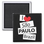 I Love Sao Paulo Brazil Magnets