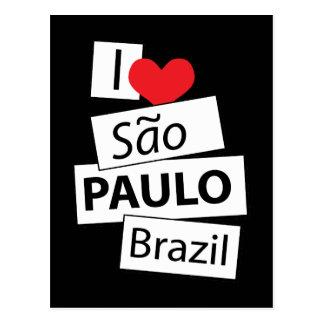 I Love Sao Paulo Brazil Postcard