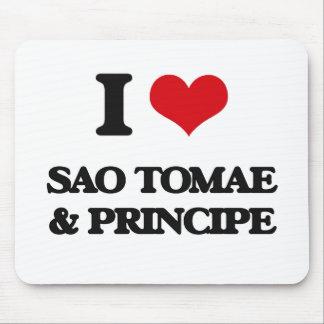 I Love Sao Tomae & Principe Mouse Pad