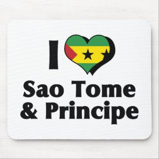 I Love Sao Tome And Principe Flag Mouse Pad