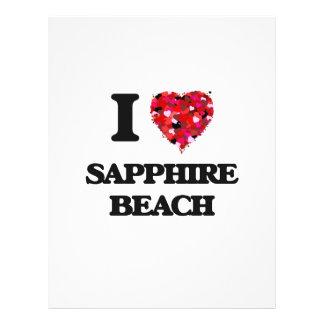 I love Sapphire Beach Virgin Islands 21.5 Cm X 28 Cm Flyer