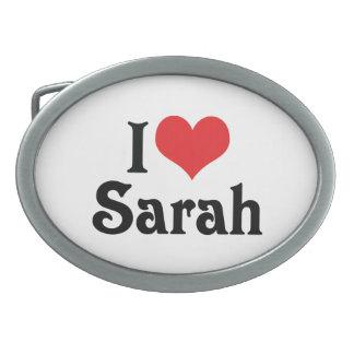 I Love Sarah Belt Buckles