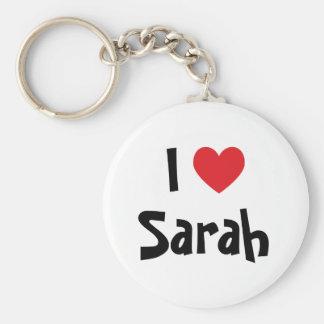 I Love Sarah Keychain