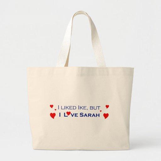 I Love Sarah Palin-1 Tote Bags