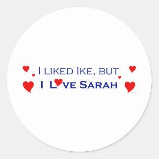 I Love Sarah Palin-1 Round Sticker