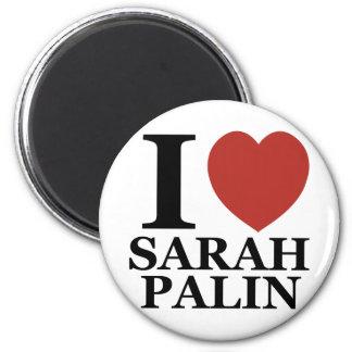 I Love Sarah Palin 6 Cm Round Magnet