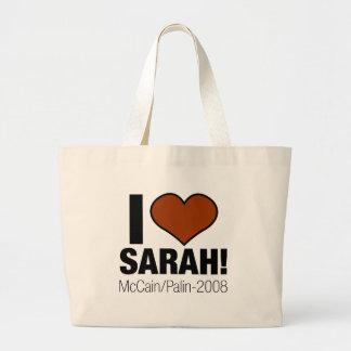 I LOVE SARAH PALIN TOTE BAGS