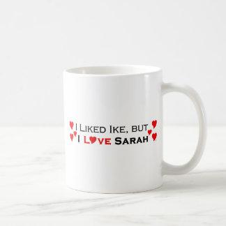 I Love Sarah Palin Basic White Mug