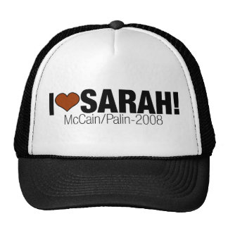 I LOVE SARAH PALIN CAP