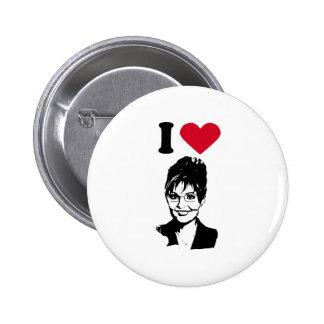 I Love Sarah Palin I Heart Sarah Palin Pinback Buttons