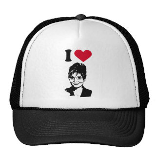 I Love Sarah Palin I Heart Sarah Palin Mesh Hats
