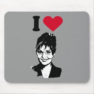 I Love Sarah Palin I Heart Sarah Palin Mouse Pads