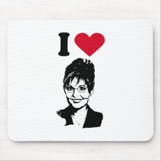 I Love Sarah Palin / I Heart Sarah Palin Mouse Mats
