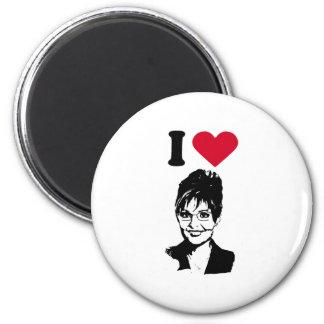 I Love Sarah Palin Fridge Magnets