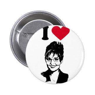 I Love Sarah Palin Pin