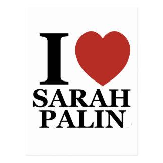 I Love Sarah Palin Postcard