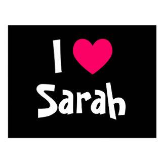 I Love Sarah Postcard