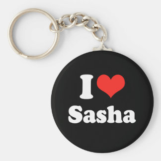I LOVE SASHA.png Key Ring