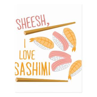 I Love Sashimi Postcard
