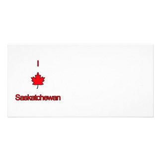 I Love Saskatchewan Photo Card Template