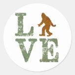 I love Sasquatch Round Sticker