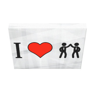 I Love Satisfied Businessmen Gallery Wrap Canvas