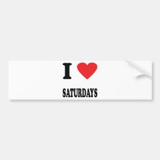 I love saturdays icon bumper sticker