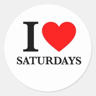 I Love Saturdays Stickers
