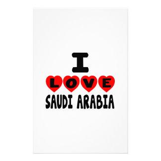 I LOVE SAUDI ARABIA CUSTOMISED STATIONERY