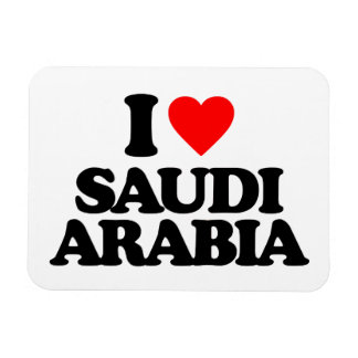 I LOVE SAUDI ARABIA VINYL MAGNET