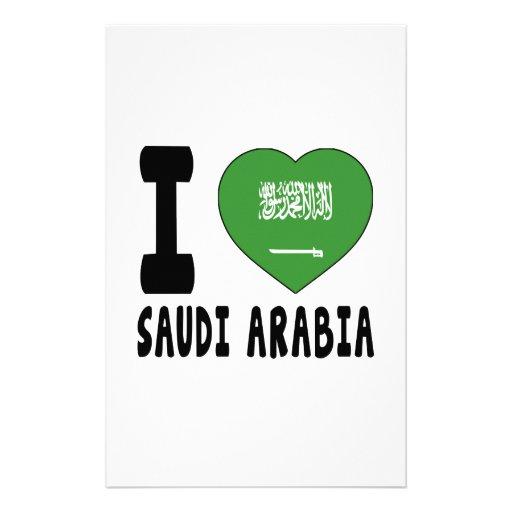 I Love Saudi Arabia Stationery Paper