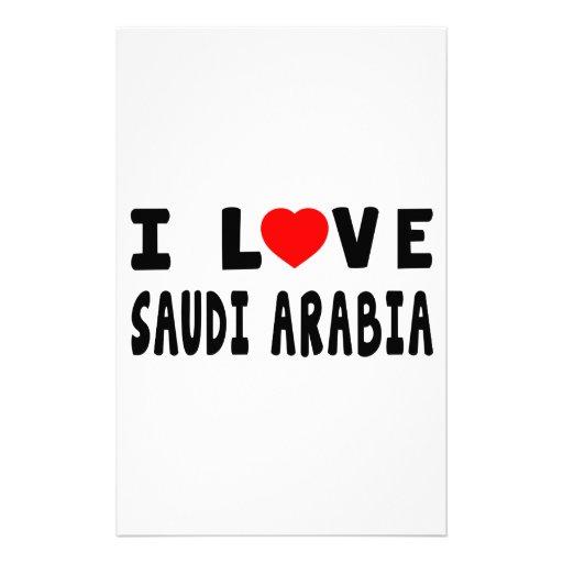 I Love Saudi Arabia Customized Stationery