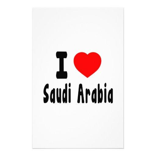 I Love Saudi Arabia. Stationery Design