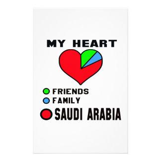 I love Saudi Arabia. Customized Stationery