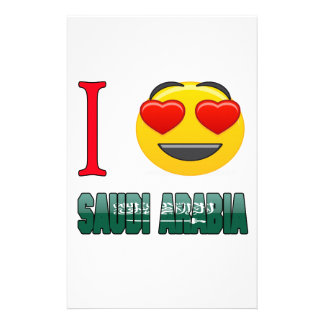 I love SAUDI ARABIA. Stationery Paper