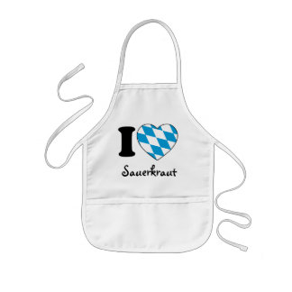 I Love sauerkraut - Octoberfest 2010 Germany Kids Apron