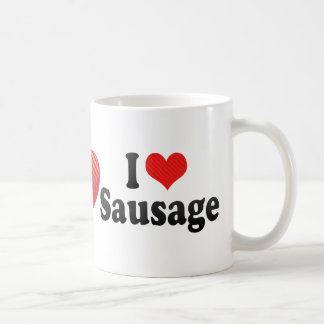 I Love Sausage Coffee Mug