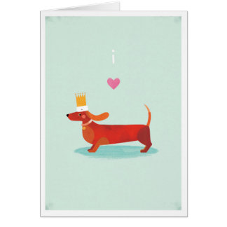 I Love Sausage Dogs Greeting Cards