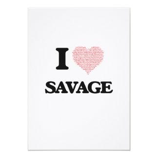 I Love Savage 13 Cm X 18 Cm Invitation Card
