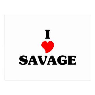 I love Savage Postcard