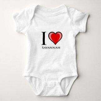 I Love Savannah Baby Bodysuit