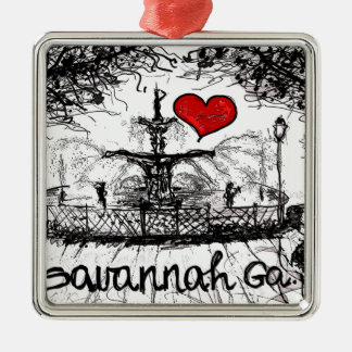 I love Savannah Ga. Christmas Ornament