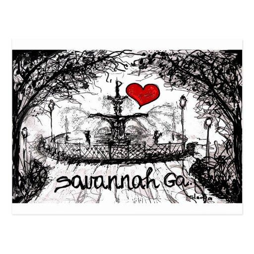 I love Savannah Ga. Post Card