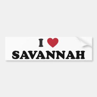 I Love Savannah Georgia Bumper Sticker