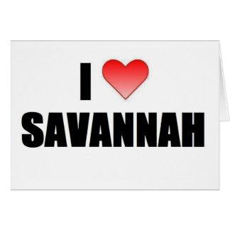 I Love Savannah Greeting Card