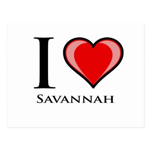I Love Savannah Post Card