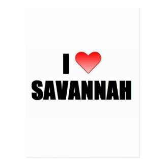 I Love Savannah Postcard