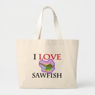 I Love Sawfish Bags