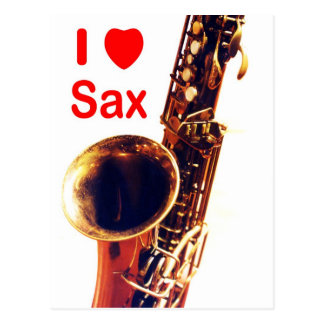 I love Sax Postcard